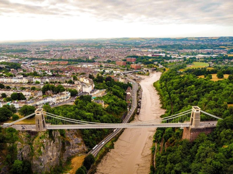 Clifton Suspension Bridge from the air