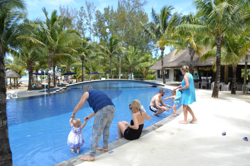 Mauritius - multi generational travel - family holiday with grandparents