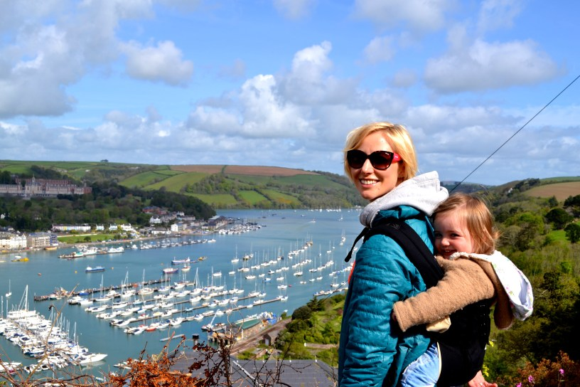 View over Dartmouth from Kingswear near Dartmouth UK
