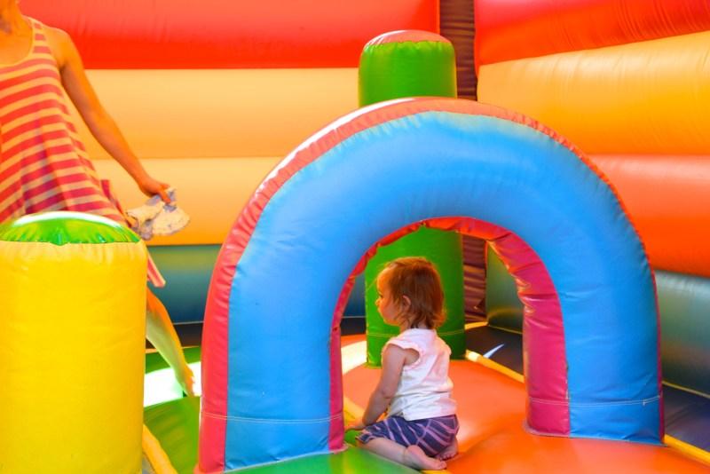 La Croix du Vieux Pont eurocamp bouncy castle