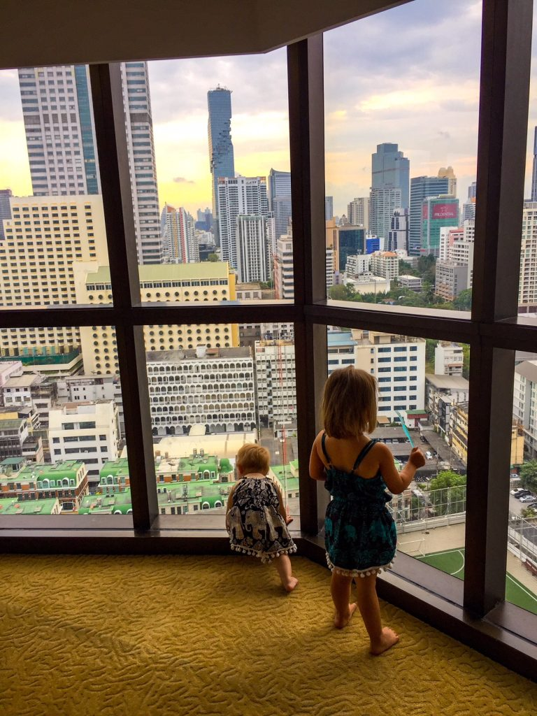 Lebua at State Tower, Bangkok,, tips on travelling to thailand with a baby and a toddler