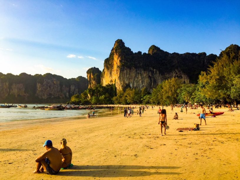 Railay Beach, Krabi, accommodation on the beach - family-friendly places to stay thailand