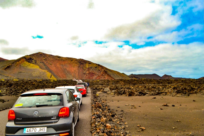 Lanzarote Timanfaya mountains of fire - volcano - canary islands - what to do - cars