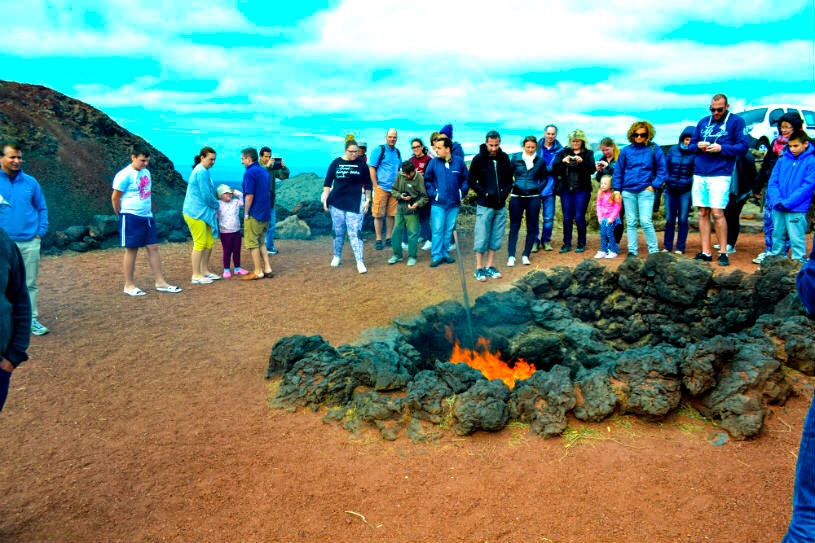 Lanzarote - Timanfaya mountains - volcano - fire
