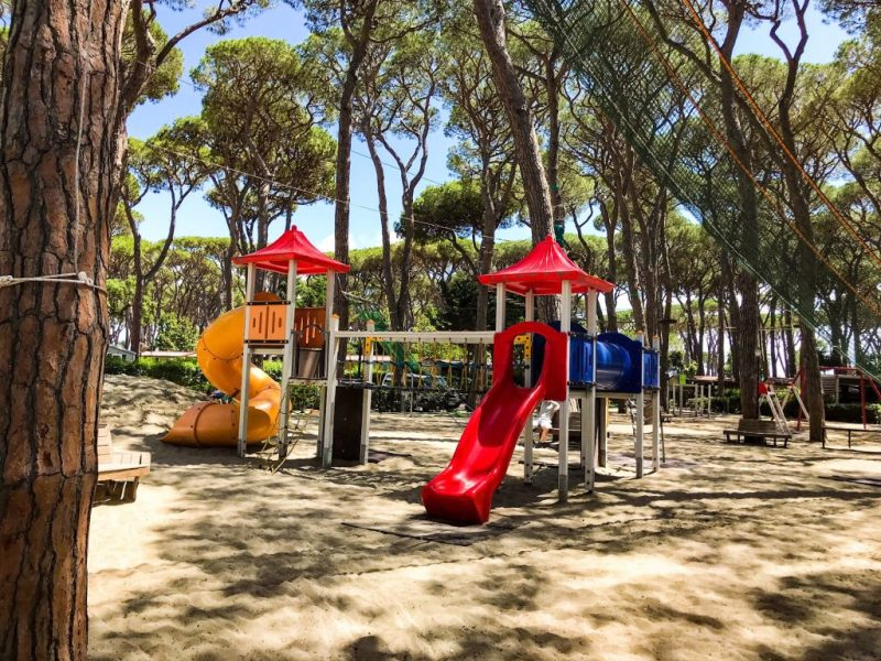 Children's playground: Best campsites in tuscany - Park Albatros, San Vincenzo Tuscany, Italy