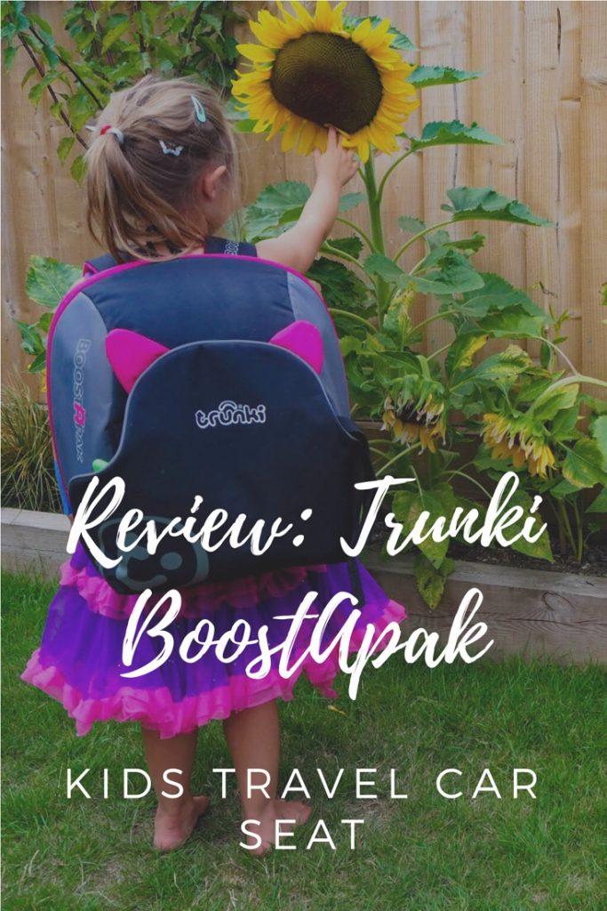Review: Toddler travel car seat Trunki BoostApak