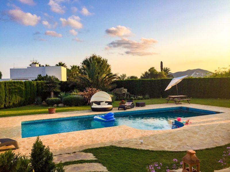 villa swimming pool, ibiza