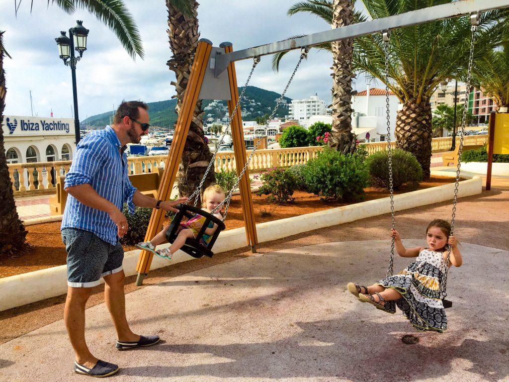 playground at Santa Eulalia, ibiza