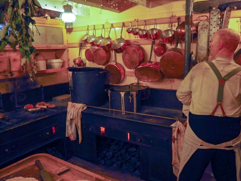 Kitchens onboard Brunel's ship