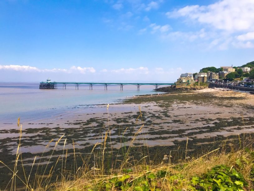 Clevedon Pier and beach view, near Bristol