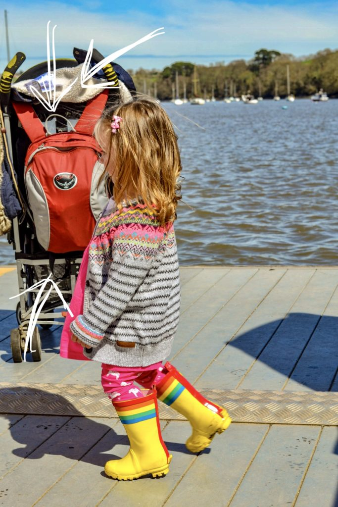 the osprey baby carrier detachable daypack - dittisham ferry, dartmouth devon