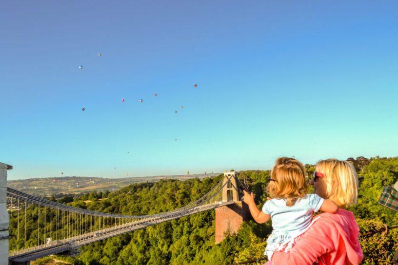 Clifton suspension bridge bristol balloon fiesta