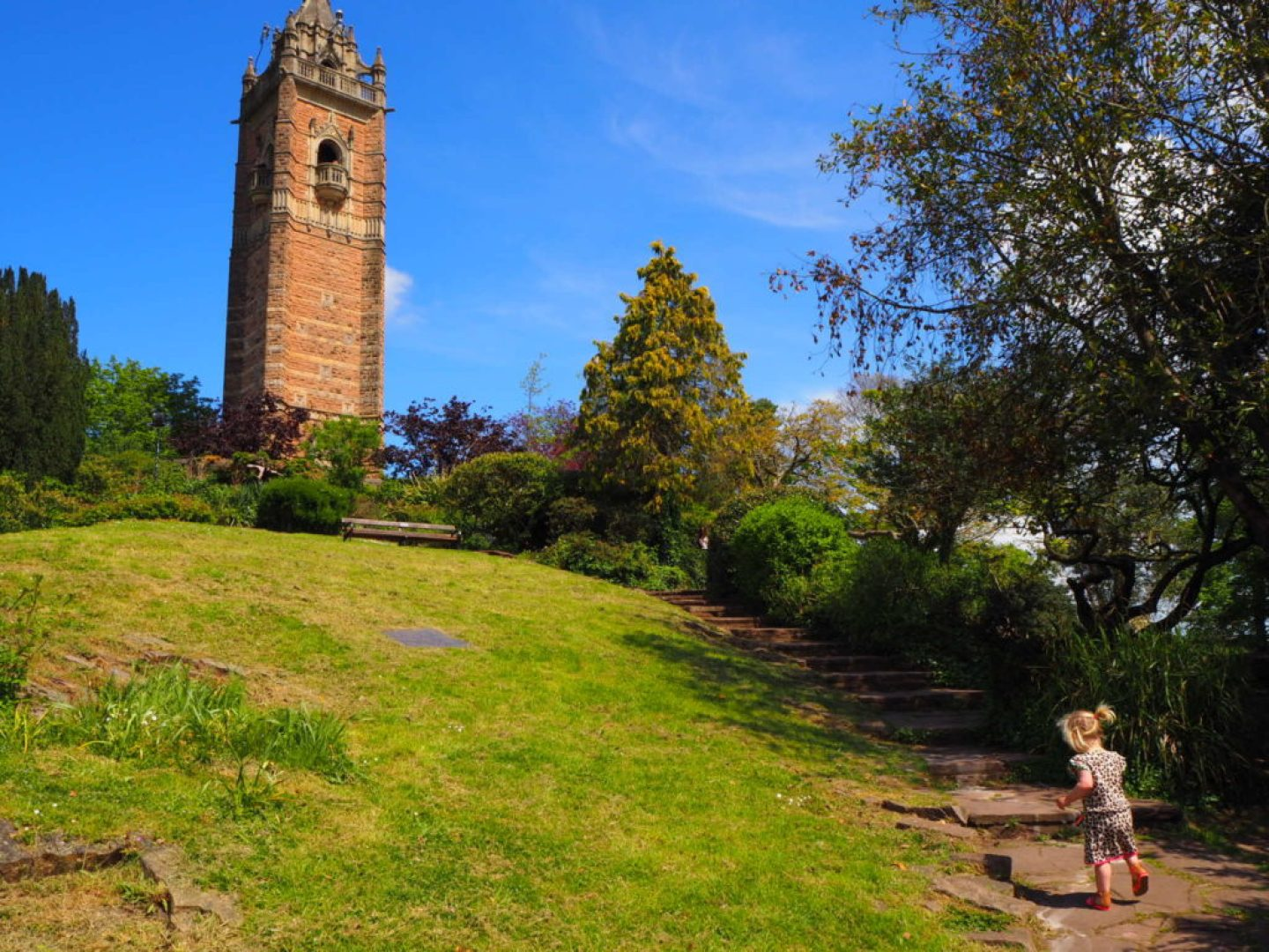 Cabot Tower, Brandon Hill, Bristol with kids