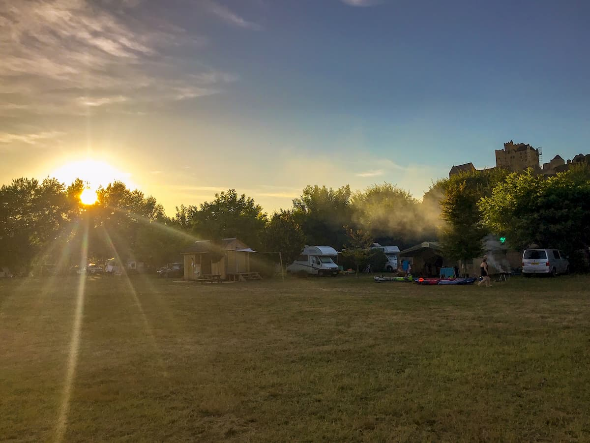 Campsites on the Dordogne river