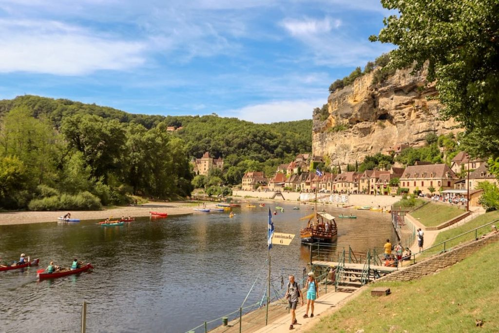 Roque Gageac - Campsites on the Dordogne river