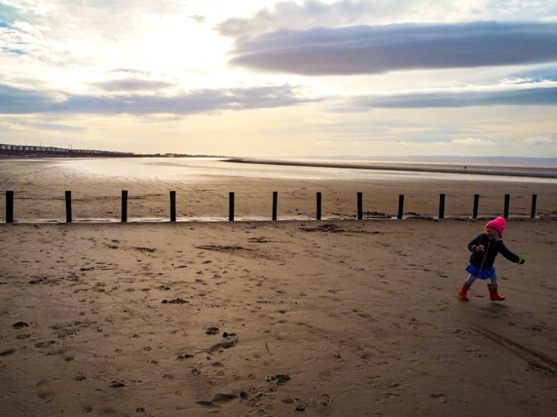 Brean Beach and mud flats