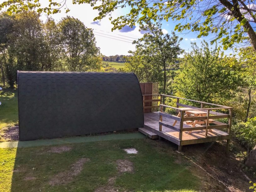 Glamping pods at andrewshayes holiday park, Devon