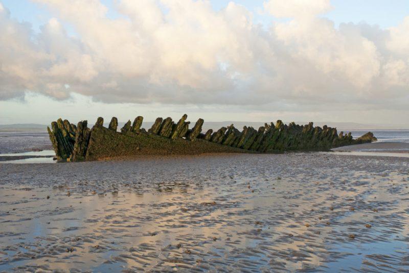 Berrow Beach SS Nornen shipwreck