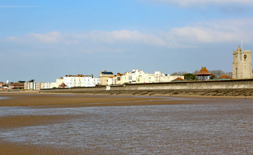Burnham-on-sea victorian seaside town and beach