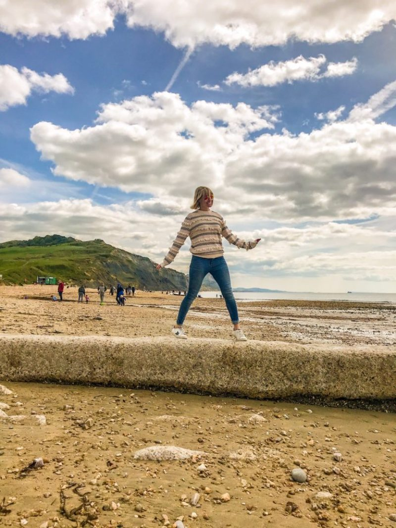Charmouth Beach fossil hunting