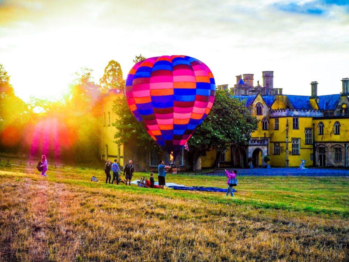 hot air balloon in Ashton Court Estate