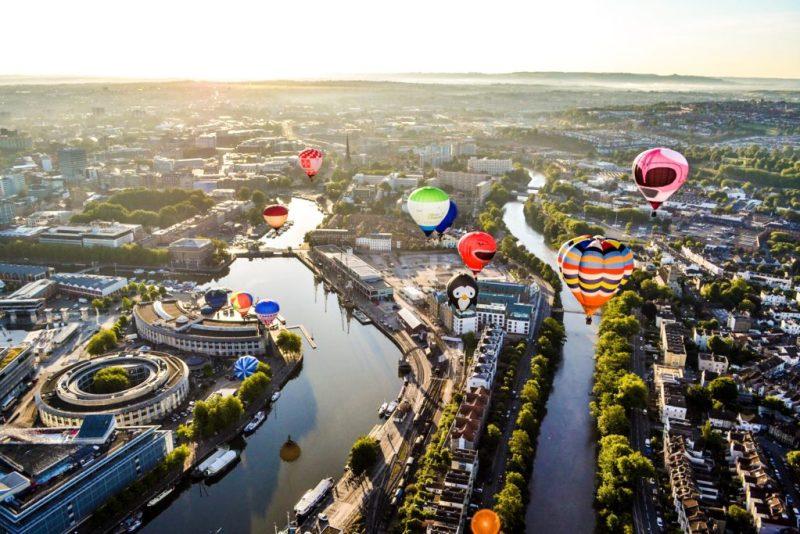 Bristol from a hot air balloon
