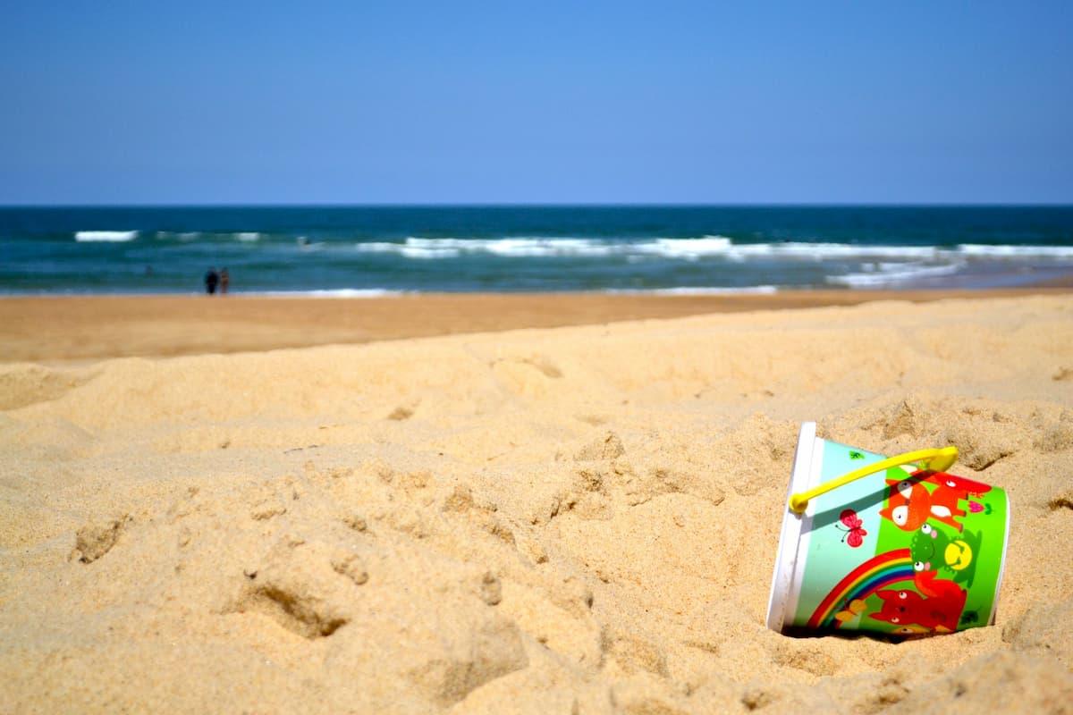 French beach west coast france
