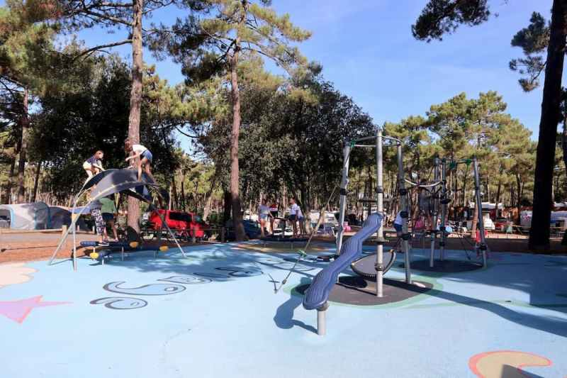 family camping in south west france - cote d'argent playground