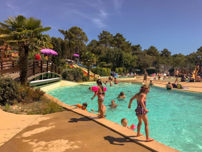 swimming pool camping south west france, camping cote d'argent