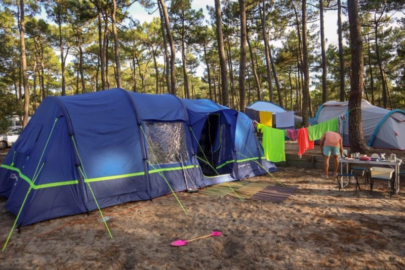 Berghaus Air 8 tent at Hourtin Plage campsite, France