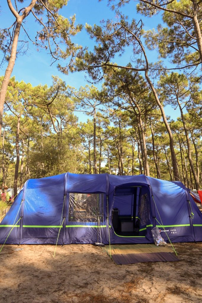 Berghaus Air 8 tent Hourtin plage campsite France