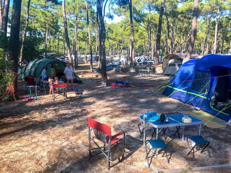 camping cote d'argent pitch - camping in south west france