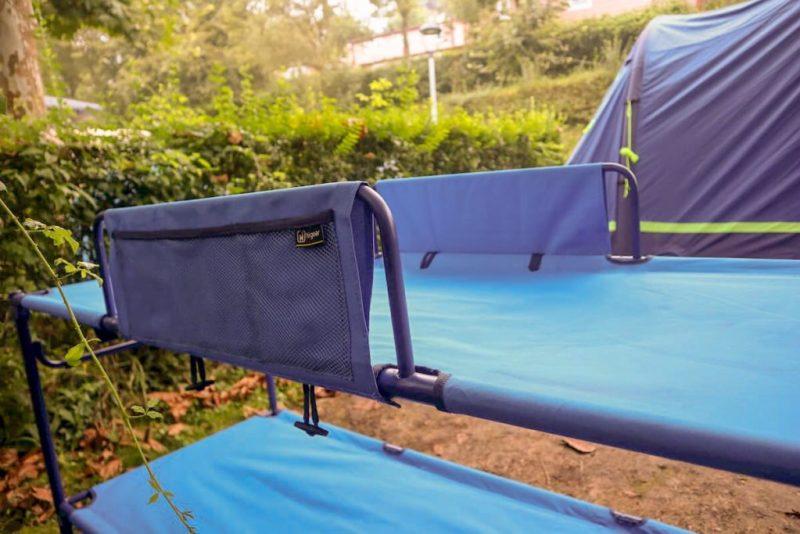 Camping bunk beds - hi gear duo pockets
