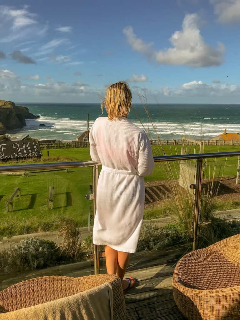 Bedruthan hotel and spa sea view