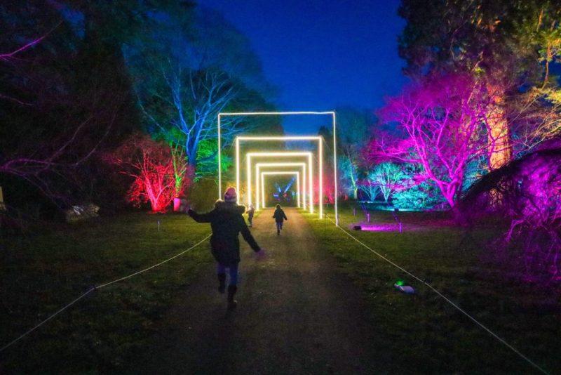 Christmas light trails near Bristol