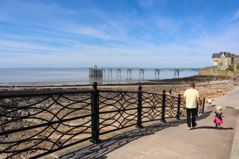 Clevedon Pier and pebble beach