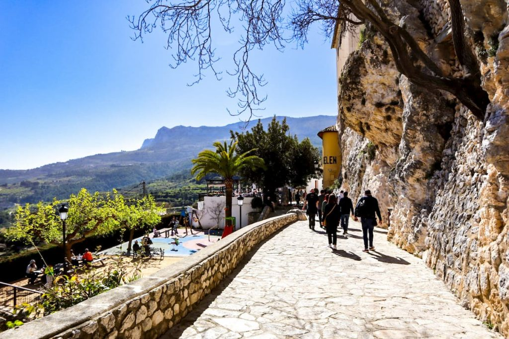 Exploring Guadalest, Spain with kids