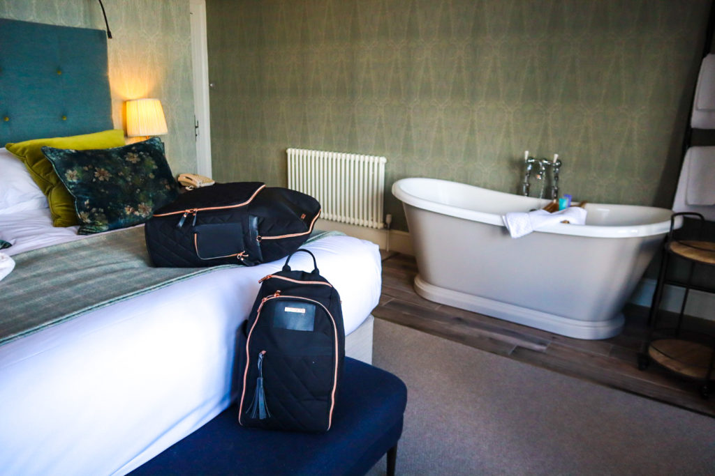 Bedroom with bath at Carbis Bay Hotel