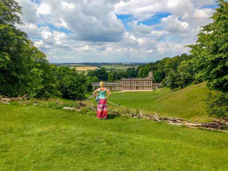 Dyrham Park National Trust mansion and view