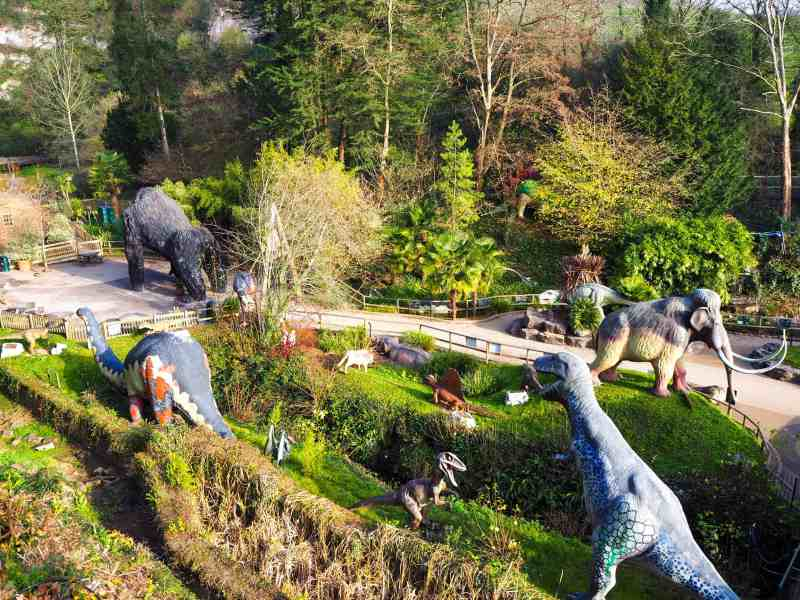 Animatronic dinosaurs at Wookey Hole Caves