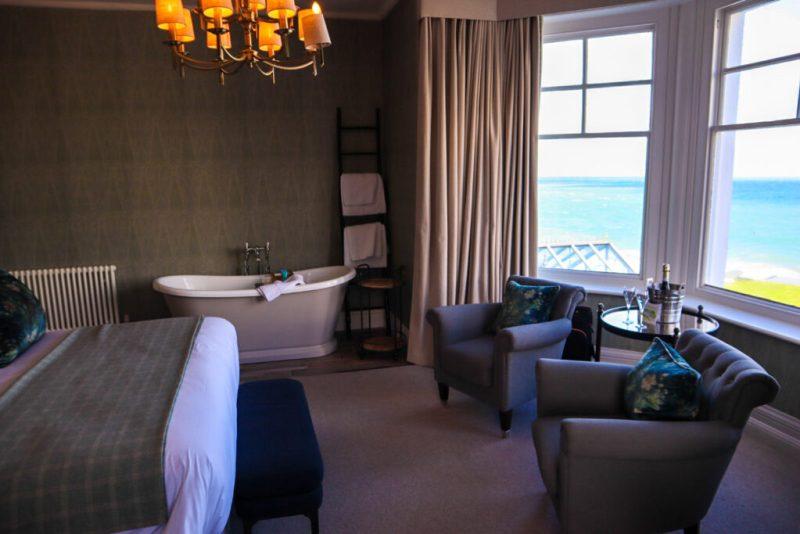 Bedroom at Carbis Bay hotel