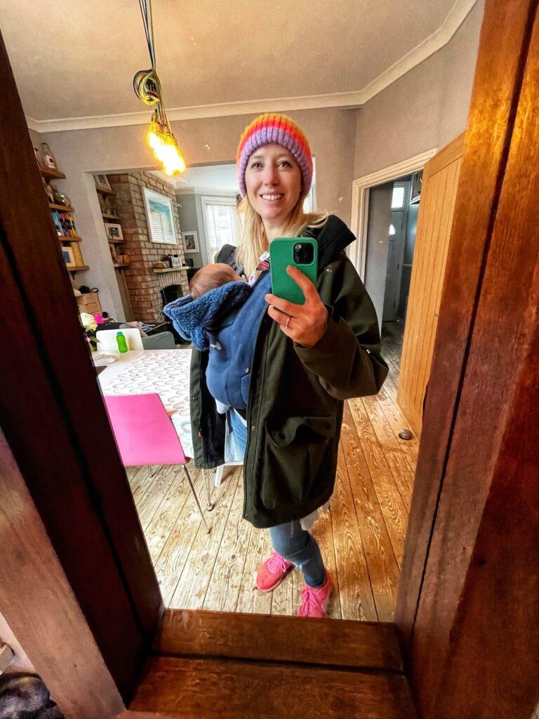 Ergobaby embrace baby sling mirror selfie