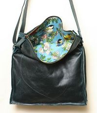 Tracey Tanner has gorgeous bags, each of which is handmade for the buyer. What I love most about them is the lining which often depicts birds. This is my favourite pattern but I could only find a thumbnail.