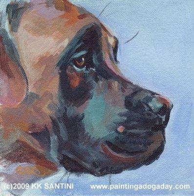 gentle giant ii boerboel pet portrait dog painting c4in100