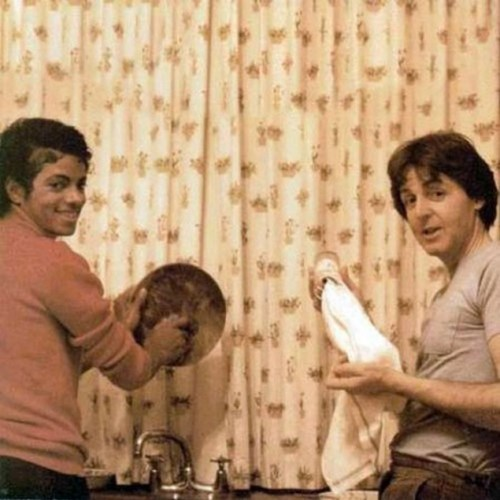 Paul and Michael do the washing up