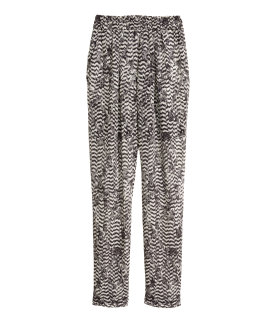 These floaty chiffon trousers were very much in demand with none left. I found one pair and people were almost ripping them out of my hands. Of course I was delighted, until I tried them on. They looked awful.   I wouldn't have even worn them as pajamas. So back they went