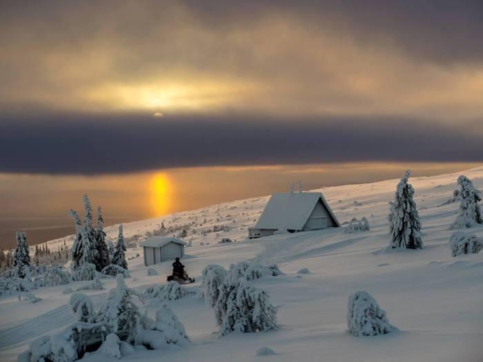 -30°C, Akkelis, Sweden, 19 January 2014. Photo by Johan Fjellstrom