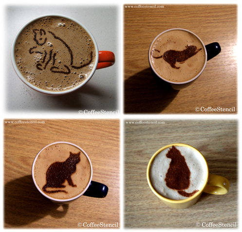 CatCoffeeStencils