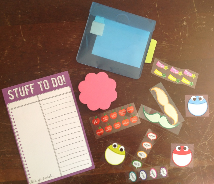 I was RAK'd these by a lovely Philofaxer and I use them all - the clear envelope is on the inside front page of my Filofax with the stickers inside, the post its are on my fly leaf and the to dos are in my plastic sleeve