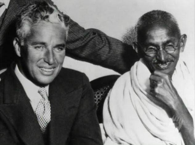 Charlie Chaplin and Ghandi